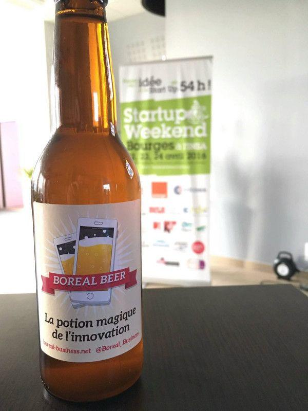 Bière personnalisée pour Start-Up Boreal Beer