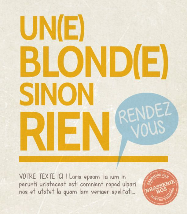 Une blonde, sinon rien