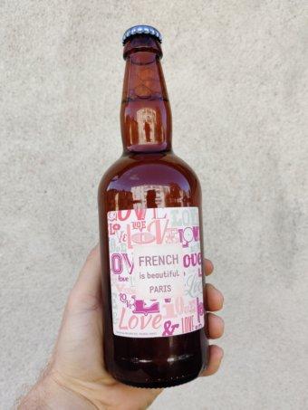 Biere personnalisée French is Beautiful Paris
