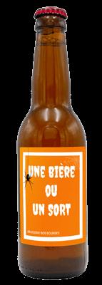 Bouteille de bière avec étiquette personnalisée sur-mesure